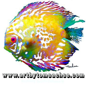 Yellow Flounder with artby tom sachse  by TSachse