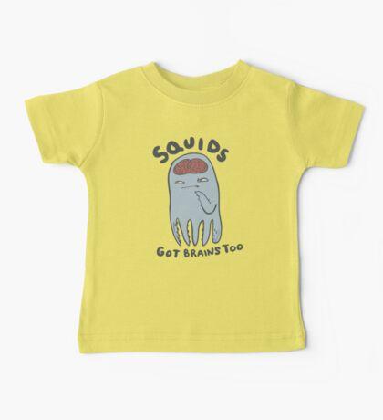 squids got brains too Kids Clothes