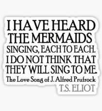 Prufrock's Mermaids Sticker