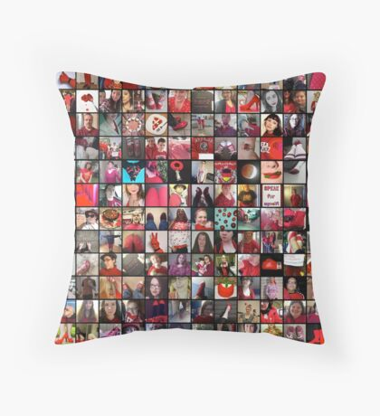 #WalkInRed2015 Collage B Throw Pillow