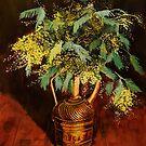Mimosas in a Brass Jug by Oleg Atbashian