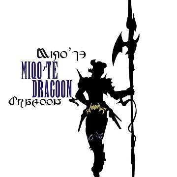 Miqo'te Dragoon by quirkyquail