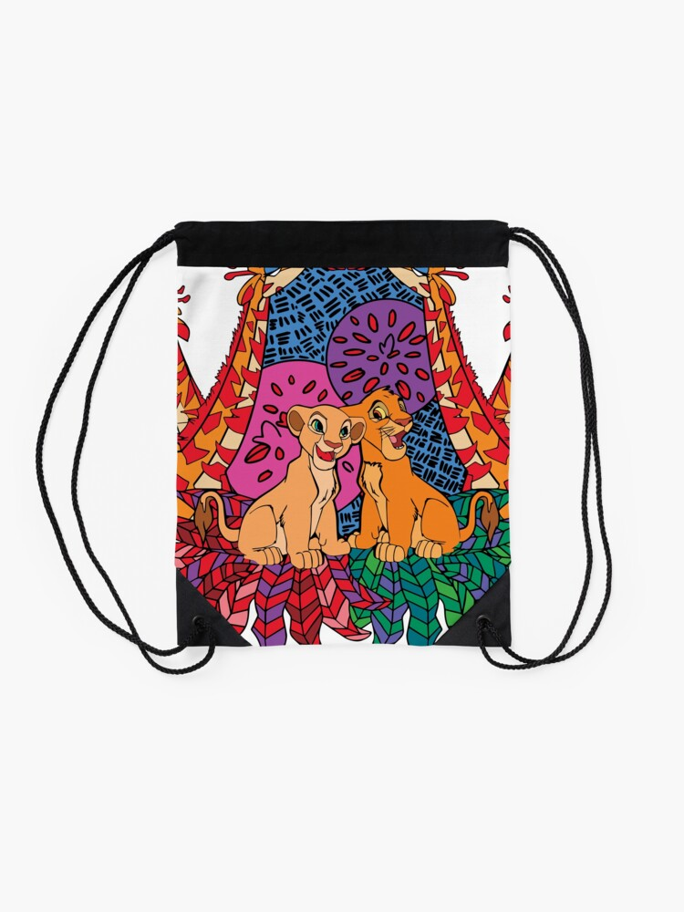 Alternate view of I just can't wait to be king! Drawstring Bag