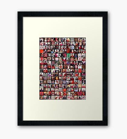 #WalkInRed2015 Collage C Framed Print