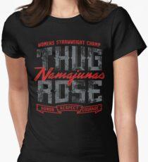 'Thug' Rose Namajunas: Ehre, Respekt und Mut Tailliertes T-Shirt für Frauen