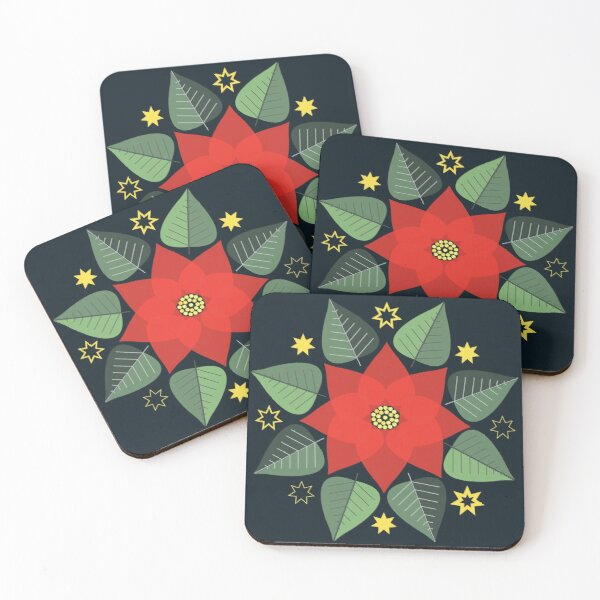 Poinsettia Coasters (Set of 4)