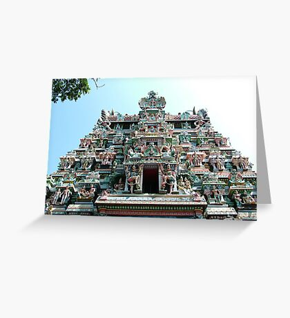 Sri Meenakshi Amman Temple, India Greeting Card