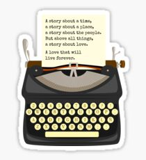 A Story About Love Sticker