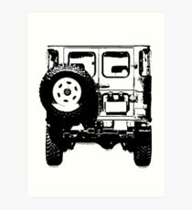 FJ40 Old School Land Cruiser Art Print