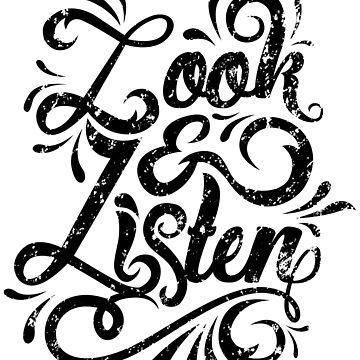 Look & Listen Typography -MFM by Batg1rl