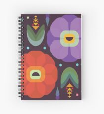 Flowerfully Folk Spiral Notebook