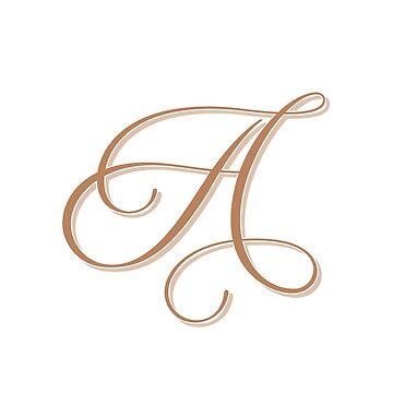 Gold Elegant Monogram - A by artbachelor