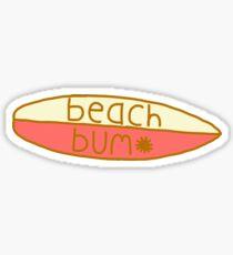 yellow and peach sun bum surfboard  Sticker