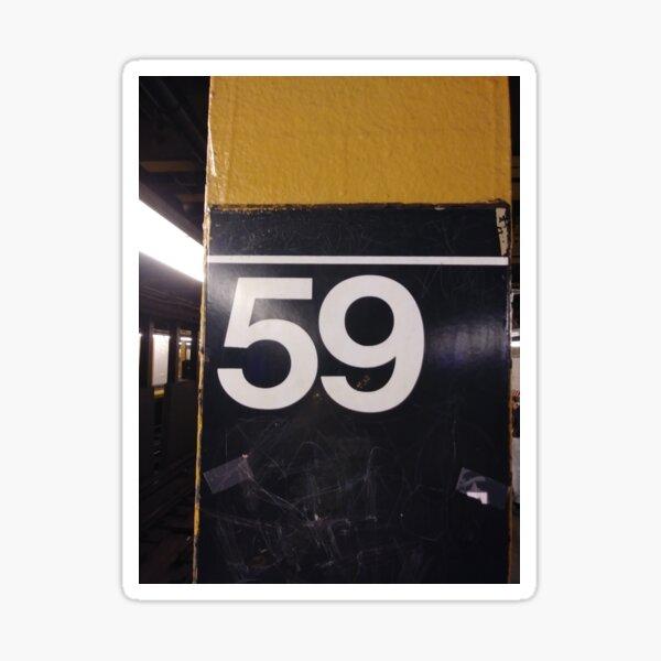 Sign, #sign, #59Street #CityHall, pattern, design, tracery, weave, #pattern, #design, #tracery, #weave, New York, #NewYork, Manhattan, #Manhattan Sticker