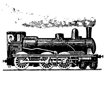 Vintage European Train  by cartoon