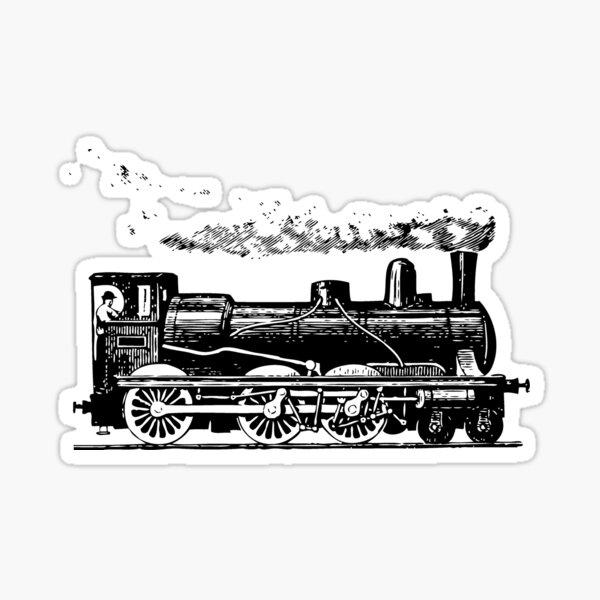 Vintage European Train  Sticker