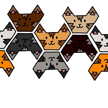 Kitty Cat Tessellation by PurpleBallSTU