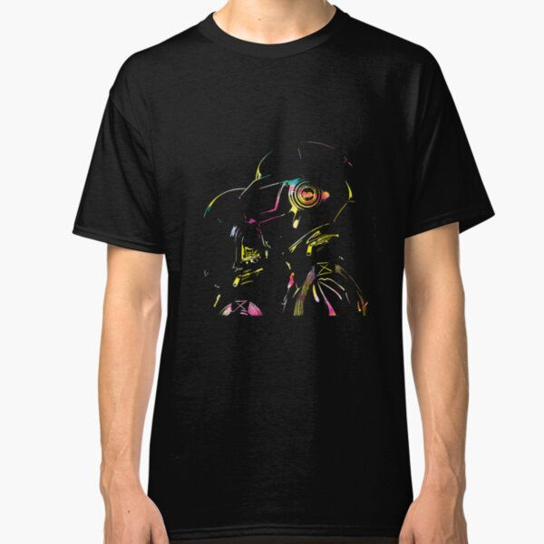 Daft Punk — Glowing Silhouette Type A Classic T-Shirt