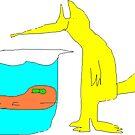 goldfish and ardvaark by Gabe-Draws