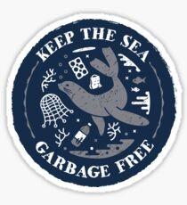Halten Sie den Sea Garbage Free - Seal Sticker