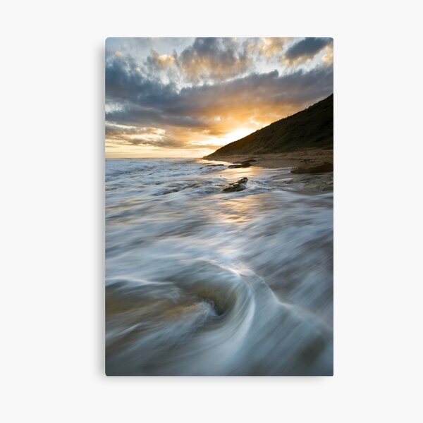 A Coy Sunset Canvas Print