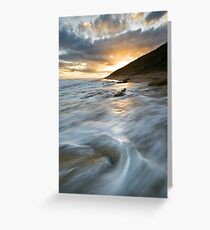 A Coy Sunset Greeting Card
