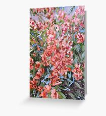 LET LIFE BE PASSIONATE LIKE SUMMER BOUGAINVILLEA Greeting Card