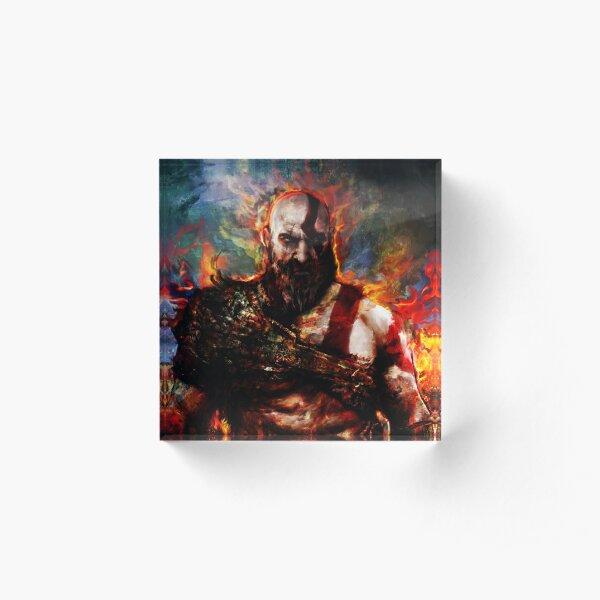 Kratos of war Acrylic Block