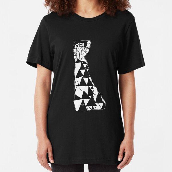 watching women -- klimt (black) Slim Fit T-Shirt