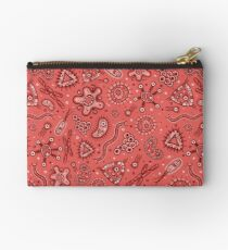 Microbes - Red / Pink Zipper Pouch