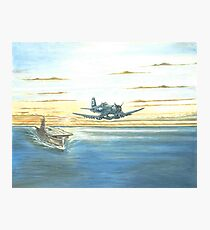 Corsair Launch at Dawn Photographic Print