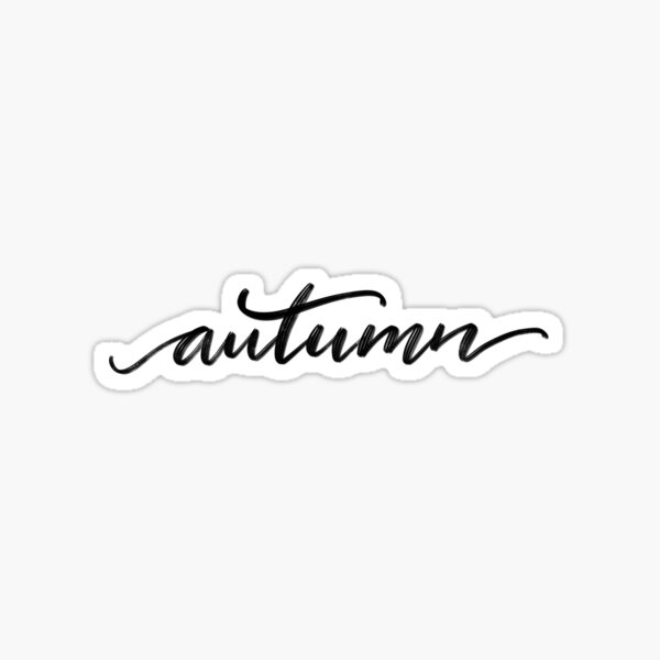 Autumn  Sticker
