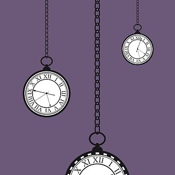 Alice Through the Looking Glass Clocks Pocket Watch by beckyb