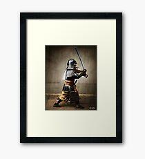 Samurai and Katana, colorized Framed Print