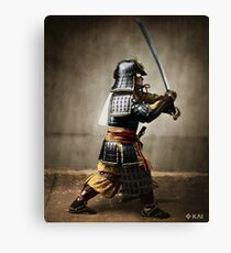 Samurai and Katana, colorized Canvas Print