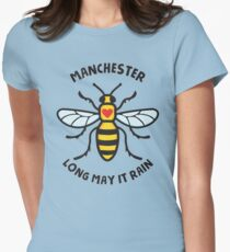 Manchester Bee Long May It Rain Women's Fitted T-Shirt