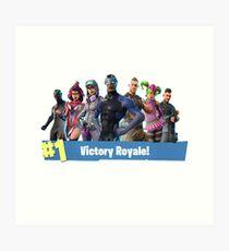 Fortnite Season 4 Victory Royale Art Print