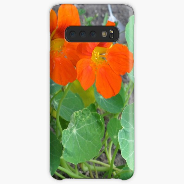 Orange Nasturtiums Photo Plants Pretty Garden Samsung Galaxy Snap Case