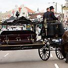 Horse drawn hearse by Alexander Meysztowicz-Howen