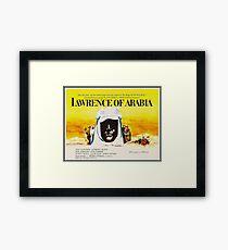 Lawrence of Arabia Credits 1962 Movie Framed Print