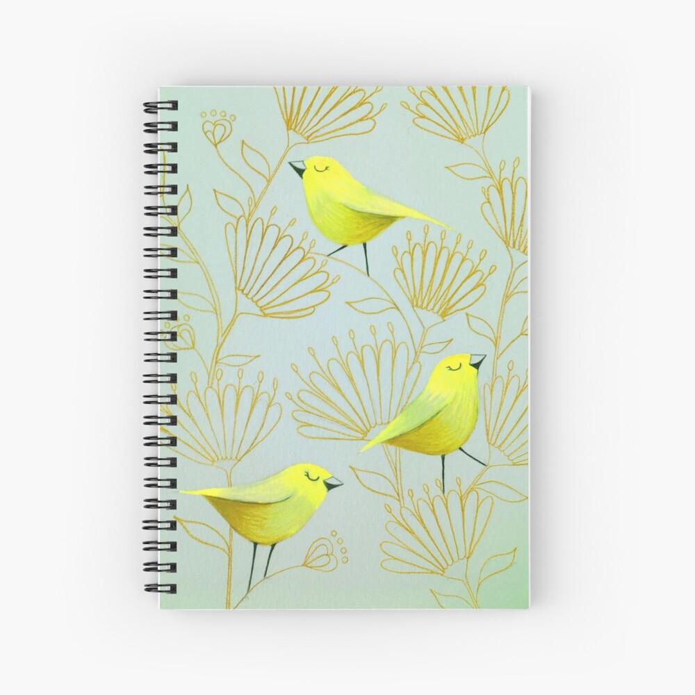 Golden birds Spiral Notebook