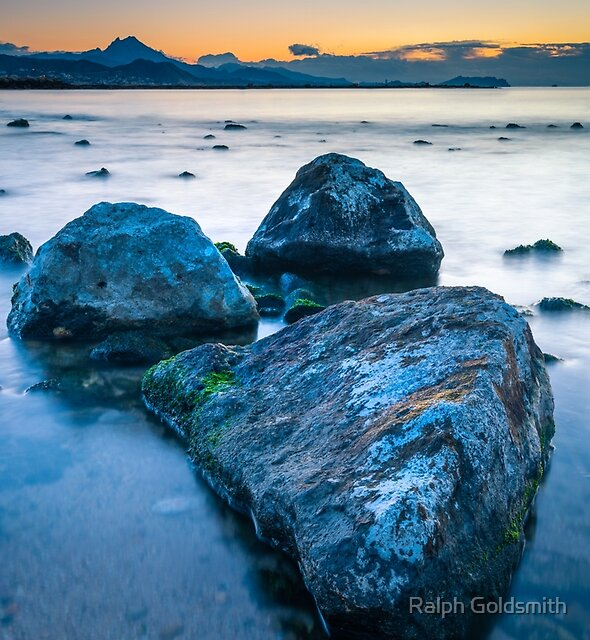 Rocks waiting for the sun by Ralph Goldsmith