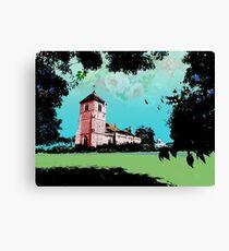 Church Landscape 2 Canvas Print
