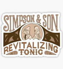 Simpson and Son Revitalizing Tonic Classic Comedy Homage Sticker