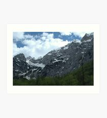 Alps in the sky Art Print