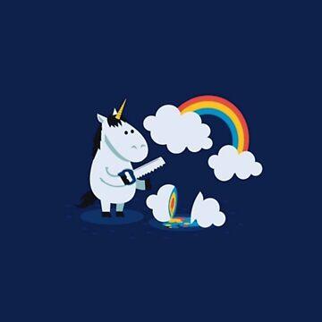 Cartoon Unicorn Rainbow Funny Cute Design by TheQuoteHouse