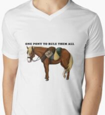 Lord of the Rings: Bill the pony (with text) Men's V-Neck T-Shirt