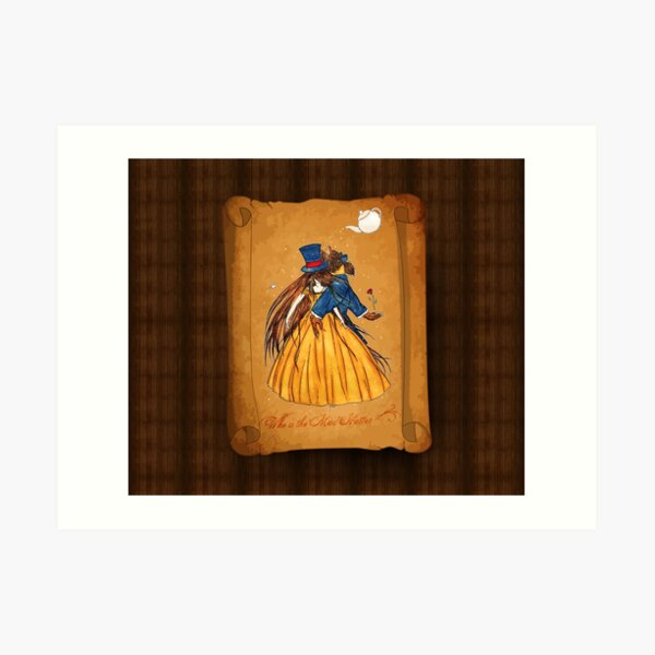 Who is the Mad Hatter ? Beauty and the Beast Art Print