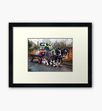 Wadworths 6x Shire Horses Devizes Brewery Wiltshire England UK Framed Print