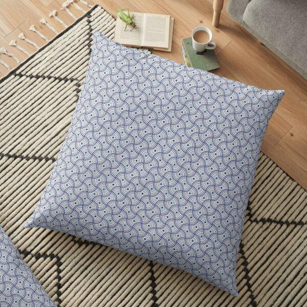 Blue Evil Eye  Floor Pillow